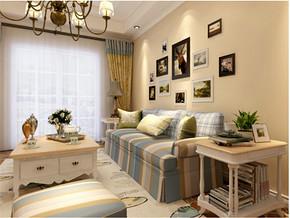 田园特色一室一厅客厅装修效果图