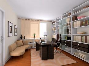现代中式家装书房装修效果图