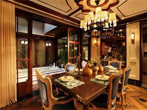 复古气质实木餐厅新房装修图片