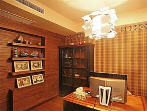 复古实木家具书房装修样板房
