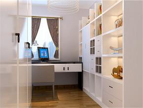现代温馨简约书房装修设计案例