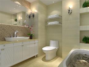 法式乡村混搭卫浴装修设计
