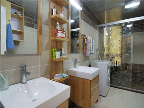 中式简约风格卫生间装修效果图
