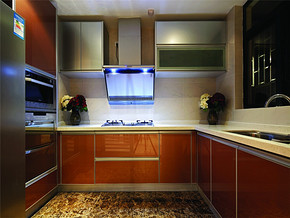 优雅米色混搭厨房装修设计