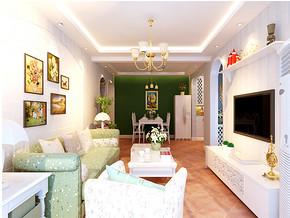 淡雅田园一室一厅客厅装修效果图