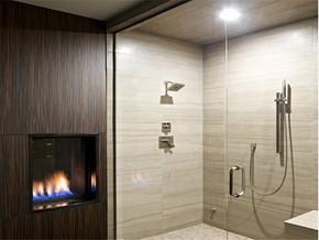 欧式简约卫生间壁炉装修图片