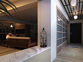 日式客厅清新简约阳台装修风格