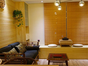 特色时尚日式客厅家居装修设计