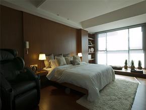 现代清新阳台舒适简约卧室装修样板房