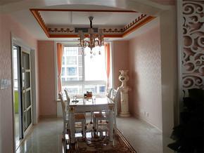 美式新古典餐厅房间设计实景图