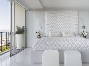 清新阳台阳光房卧室装修案例