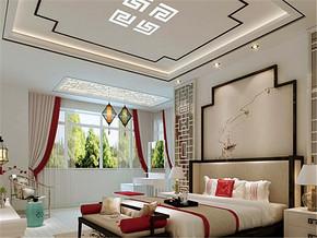 日式复古背景墙清新卧室装修风格
