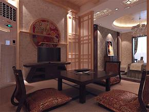 日式古典实木茶座装修案例