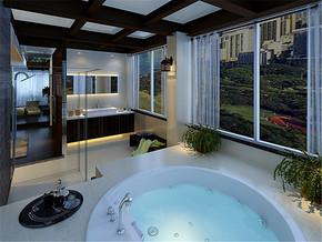 奢华欧式新房卫生间装修图片