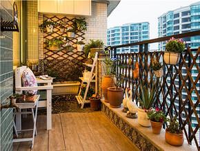 靓丽田园两室一厅阳台装修图