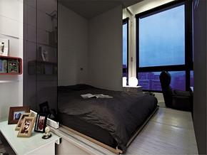 现代清新阳台舒适清新卧室装修样板房