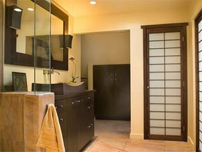 日式清新温馨盥洗台装修样板房