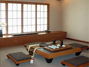 日式复古简约榻榻米茶座装修图片