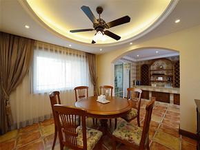 欧式吊灯复古实木家具装修风格