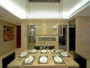 欧式餐厅古典房间设计实景图