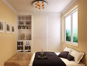 日式水晶吊灯简约清新卧室装修风格