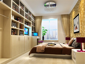温馨简约现代新房卧室装修图片