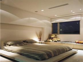 日式清新简约卧室装修样板房
