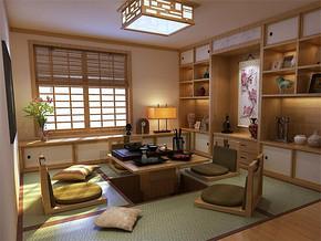 日式吊灯温馨简约榻榻米书房装修案例