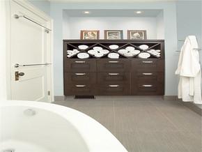 美式卫浴古典房间设计实景图