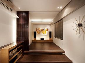 日式清新背景墙简约榻榻米书房装修