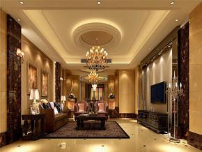 简欧复式客厅房屋装修设计