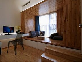 日式简约实木榻榻米卧室装修图片