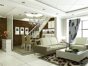 现代舒适复式客厅装修效果图