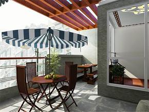 现代简约主义阳台装修风格