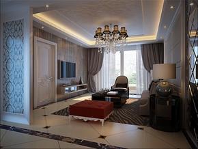 温馨现代客厅一室二厅装修样板房