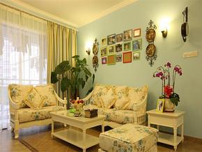 田园客厅一室一厅装修样板房