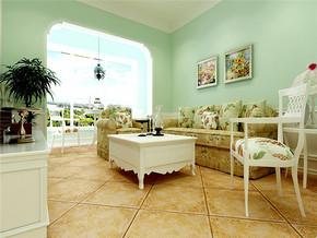 田园客厅阳台时尚两室改三室设计