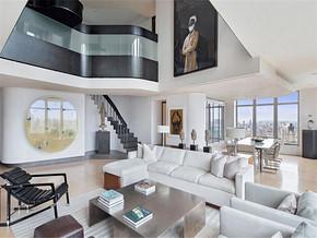 现代两室两厅复式客厅装修效果图