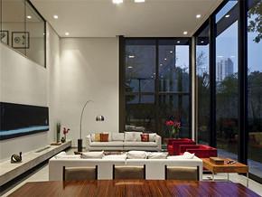 温馨现代复式家庭客厅装修设计