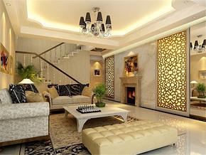 欧式复式两室两厅客厅装修效果图