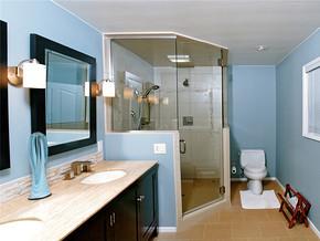 田园浴室吊顶一室一厅装修效果图