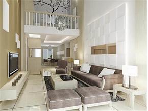 现代特色时尚复式客厅装修效果图
