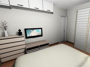 日式简约衣柜卧室装修案例