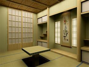 日式清新墙面榻榻米装修案例