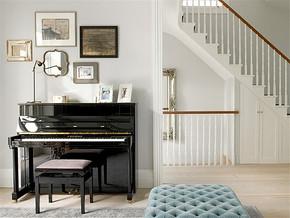 简欧风格清新复式客厅装修图片