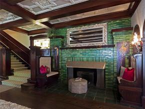 欧式田园风格复式客厅装修图片