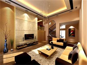 温馨复式纯净客厅装修案例