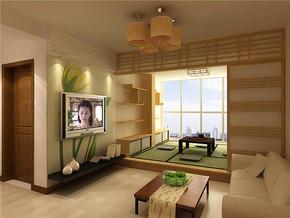 日式风格时尚两室客厅装修设计