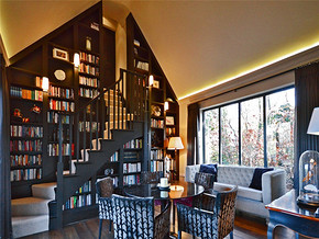 欧式小复式创意书房装修案例