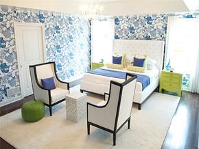 田园时尚卧房一室一厅装修效果图